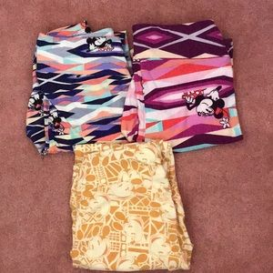 Lot of 3 Lularoe Disney Minnie Mouse os leggings